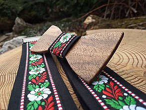 Doplnky - Pánsky drevený motýlik a traky - 10886418_