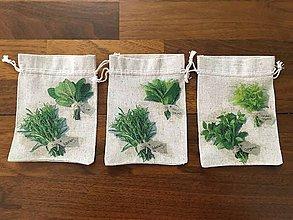 Úžitkový textil - Vrecúška na bylinky - 10884502_