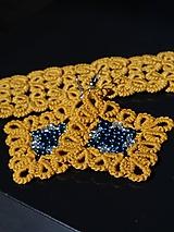 Sady šperkov - Náramok s náušnicami- Frivolitkové šperky - 10884590_