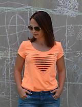 Tričká - Oranžovo neónové tričko - 10884486_
