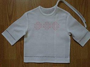 Detské oblečenie - Krstná košieľka folk - 10885718_