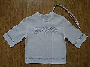 Detské oblečenie - Krstná košieľka folk - 10885728_