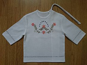 Detské oblečenie - Krstná košieľka folk - 10885747_