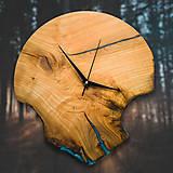 Hodiny - RAW Resin 7 - Čerešňové drevené hodiny - 10886655_