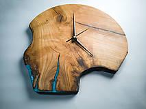 Hodiny - RAW Resin 7 - Čerešňové drevené hodiny - 10886658_