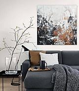 Obrazy - abstraktný obraz, Medzi skalami, 100x100 - 10885418_