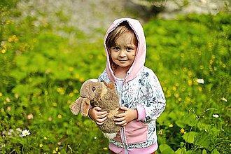 Detské oblečenie - Dievčenská mikina černice - 10884361_