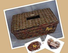 Košíky - Krabička na servítky - vreckovník - 10884608_