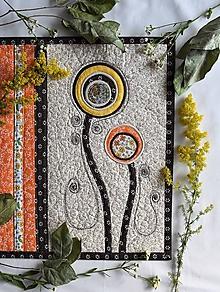 Úžitkový textil - Štóla - terakota - 10886705_