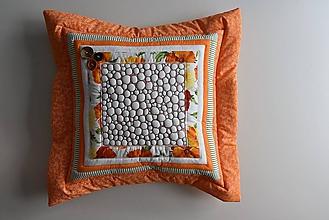 Úžitkový textil - Vankúš - quiltovaný - 10886723_