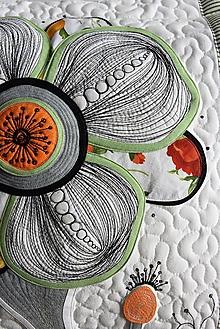 Úžitkový textil - Vankúše - kvet - LIMITED EDITION No.2 - 10886755_