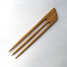 Ozdoby do vlasov - Drevená ihlica do vlasov - dubová - 10886283_