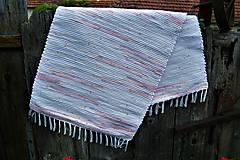 Úžitkový textil - Tkaný koberec bielo-maslovo-jemne melírovaný - 10884816_