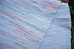 Úžitkový textil - Tkaný koberec bielo-maslovo-jemne melírovaný - 10884818_