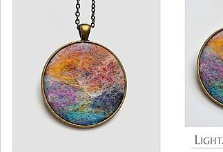 """Náhrdelníky - Arttexový prívesok """"Jemnosť farieb"""" - veľ.M - 10887831_"""