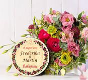 Darčeky pre svadobčanov - Svadobná magnetka - 10887673_