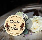 Darčeky pre svadobčanov - Svadobná magnetka - 10888094_