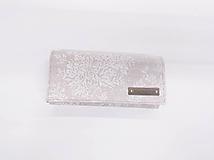 Peňaženky - Peňaženka režná s čipkou - 10888878_