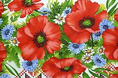 """Textil - Látka """"Maková výšivka"""" 4 bordúry - 10889015_"""