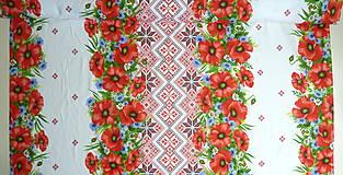 """Textil - Látka """"Maková výšivka"""" 4 bordúry - 10889018_"""