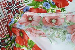 """Textil - Látka """"Maková výšivka"""" 4 bordúry - 10889020_"""