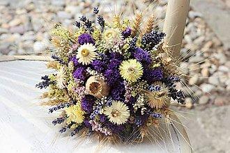 Dekorácie - Sušená kytička s levanduľou - 10887103_