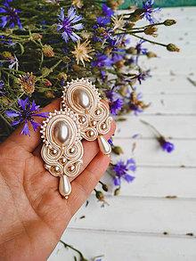 Náušnice - Pearl earrings - sutaškové náušnice - 10886986_