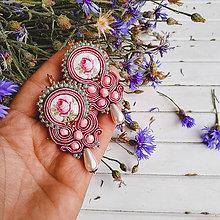 Náušnice - Vintage Rose earrings - sutaškové náušnice - 10886990_