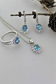 Sady šperkov - topás súprava - v striebre (certifikovaný topás) - 10888932_