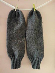Obuv - Hnedé ponožky..... - 10887174_