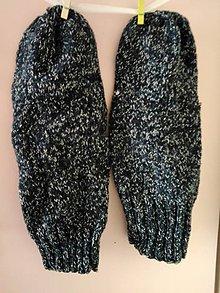 Obuv - Modro-biele ponožky.... - 10887190_