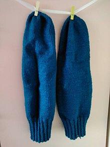 Obuv - Tyrkysové ponožky.... - 10887193_