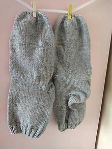 Obuv - Sivé ponožky..... - 10887203_