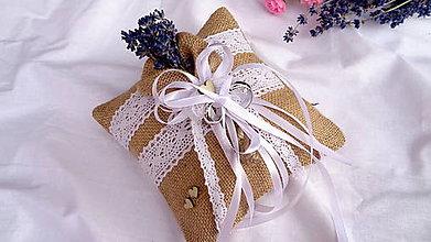 Prstene - Svadobný vankúšik pod obrúčky  - levanduľa - 10888383_