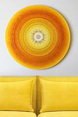 Obrazy - SLNEČNÁ MANDALA (kvet šťastia) Ø 60 - 10888685_