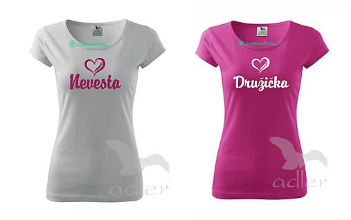 Tričko Nevesta + Družička 11