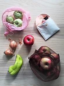 Nákupné tašky - Nákupný komplet eko vreciek na zeleninu - premium - 10887941_