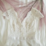 Šaty - Svadobné šaty s V výstrihmi - 10887780_