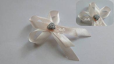 Pierka - Svadobné pierko s ligotavým srdiečkom - 10888333_