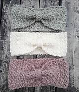 Ozdoby do vlasov - Háčkované vlnené čelenky - 10887740_