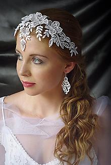 Ozdoby do vlasov - Svatební čelenka Melánie - 10887703_