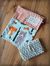 Úžitkový textil - Snack pack (Čierno-biela) - 10888585_