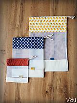 Úžitkový textil - Sada vreciek na potraviny (Modrá) - 10888691_