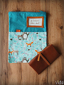 Úžitkový textil - Snack pack (Modrá) - 10888554_