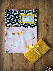 Úžitkový textil - Snack pack (Ružová) - 10888563_