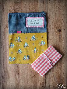 Úžitkový textil - Snack pack (Žltá) - 10888564_