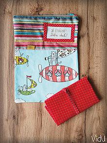 Úžitkový textil - Snack pack (Červená) - 10888565_