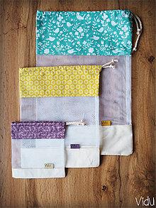 Úžitkový textil - Sada vreciek na potraviny (Tyrkysová) - 10888692_