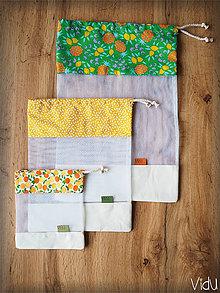 Úžitkový textil - Sada vreciek na potraviny (Zelená) - 10888693_