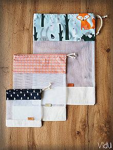Úžitkový textil - Sada vreciek na potraviny (Oranžová) - 10888694_